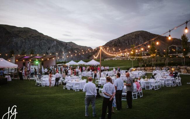 Rocky Pond lawn with wedding