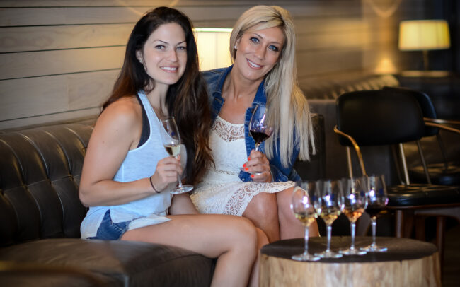 Guests enjoying wine tasting