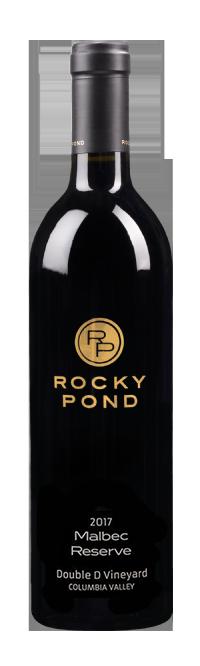 Bottle of Rocky Pond 2017 Malbec Reserve
