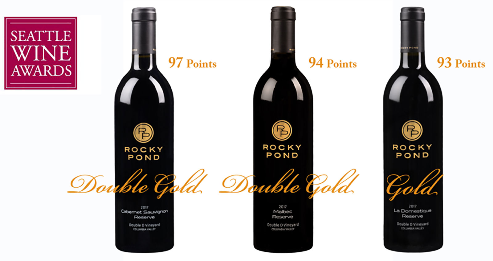 Rocky Pond Double-Gold from Seattle Wine Awards